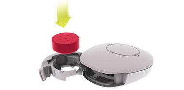 SAMBA 2 - Coloque la nueva batería en el compartimiento de la batería